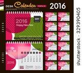 desk calendar 2016 vector... | Shutterstock .eps vector #329390405