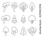 Different Trees. Vector Icons ...