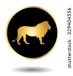vector golden and black icon... | Shutterstock .eps vector #329404556