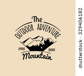 vector camp logo. tourism sign... | Shutterstock .eps vector #329406182