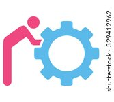 working person vector icon.... | Shutterstock .eps vector #329412962