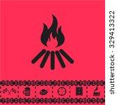 bonfire vector. black flat... | Shutterstock .eps vector #329413322