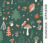 lovely forest concept seamless... | Shutterstock .eps vector #329418368