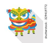 the dragon and lion dancing... | Shutterstock .eps vector #329419772