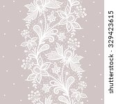 white lace  | Shutterstock .eps vector #329423615