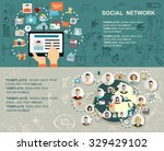 global social network abstract... | Shutterstock .eps vector #329429102
