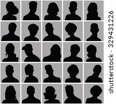 avatars of silhouettes with... | Shutterstock .eps vector #329431226