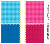 vector pattern pink and blue... | Shutterstock .eps vector #329433212