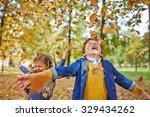 two happy little friends... | Shutterstock . vector #329434262