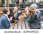 group of friends playing some... | Shutterstock . vector #329439422