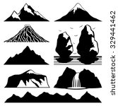 Vector Set. Mountain Icons.