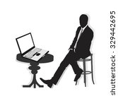 silhouettes of businessman. | Shutterstock .eps vector #329442695