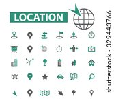 location  navigation  map icons