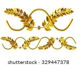 golden ornamental segment for... | Shutterstock . vector #329447378