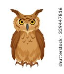 vector brown owl isolated on a... | Shutterstock .eps vector #329447816