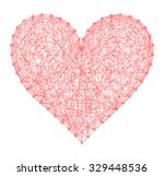 abstract heart shape symbol... | Shutterstock .eps vector #329448536