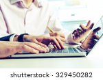 business collaboration | Shutterstock . vector #329450282