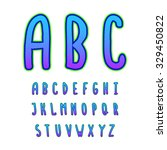 hand drawn vector alphabet.... | Shutterstock .eps vector #329450822
