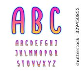 hand drawn vector alphabet.... | Shutterstock .eps vector #329450852