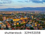 sunset over bulgarian city... | Shutterstock . vector #329452058