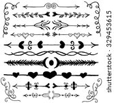 set of hand drawn doodle design ...   Shutterstock .eps vector #329453615