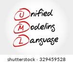 uml   unified modeling language ... | Shutterstock .eps vector #329459528