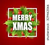 merry christmas lettering card... | Shutterstock .eps vector #329462066