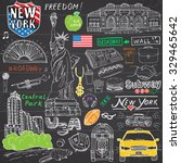 new york city doodles elements
