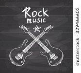 Rock Music Hand Drawn Sketch...