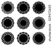 beautiful black vector round...   Shutterstock .eps vector #329472635