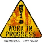 work in progress sign grunge... | Shutterstock .eps vector #329473232