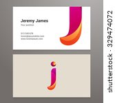 modern letter j business card...   Shutterstock .eps vector #329474072