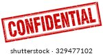 confidential red square grunge... | Shutterstock .eps vector #329477102