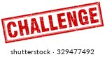 challenge red square grunge...   Shutterstock .eps vector #329477492