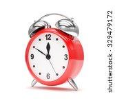 red alarm clock on white | Shutterstock . vector #329479172