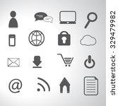 internet icons set illustration | Shutterstock .eps vector #329479982