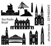 sao paulo monuments. vector... | Shutterstock .eps vector #329480045