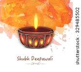 creative illuminated lit lamp... | Shutterstock .eps vector #329485502