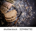 mixed rye wheat whole grain... | Shutterstock . vector #329486732