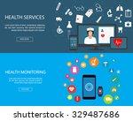 flat designed banners for... | Shutterstock .eps vector #329487686