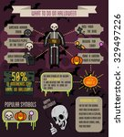 flat halloween poster. flat... | Shutterstock .eps vector #329497226