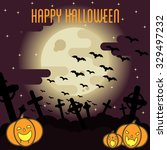 halloween poster. flat style   Shutterstock .eps vector #329497232