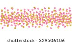 large hearts pink and gold... | Shutterstock . vector #329506106
