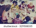 hexagon icon frame symbol copy... | Shutterstock . vector #329508335
