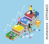education concept with book... | Shutterstock .eps vector #329518622