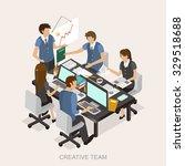 creative team concept in 3d... | Shutterstock .eps vector #329518688