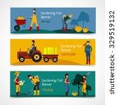 gardening people horizontal... | Shutterstock .eps vector #329519132
