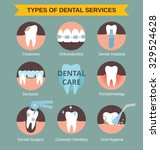 types of dental clinic services.... | Shutterstock .eps vector #329524628