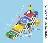 education concept with book... | Shutterstock . vector #329526692