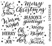 handwritten christmas... | Shutterstock .eps vector #329533148